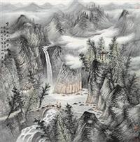 崂山九水潮音图 by zeng xianguo
