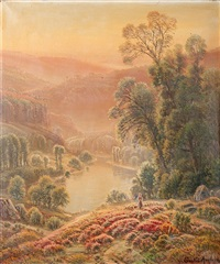 paysage lacustre by gaston anglade
