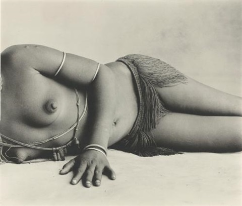 chieftain's wife (torso), cameroon (jan. 1969) by irving penn