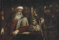 christ before caiaphas by luca cambiaso