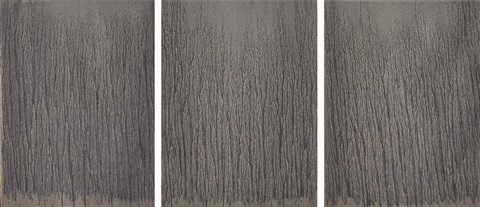 untitled triptych in 3 parts by richard long