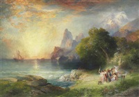 ulysses and the sirens by thomas moran