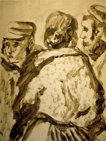 three religious figures by mané katz
