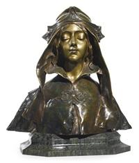 a pre-raphaelite bust by henri jacobs