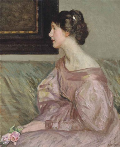 the pink rose by sir george clausen