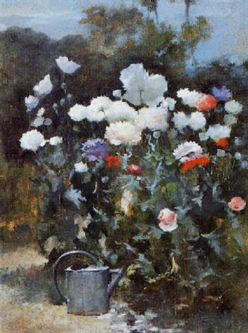 massif de fleurs et arrosoir by marie adolphe edouard modérat d otémar
