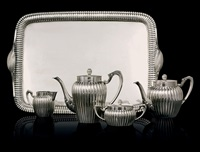 tea and coffee service with tray (set of 5) by anders ljung
