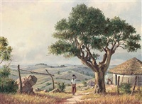 on the road to ixopo, natal (+ a cape homestead; pair) by guiseppe catty