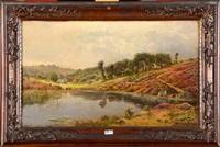 paysage à l'étang by gaston anglade