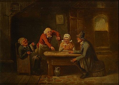 kaartspelers by jean baptiste madou