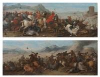 combat de cavaliers (pair) by andrea di leone