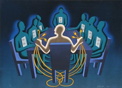 artwork by mark kostabi