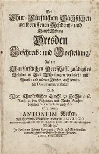 der chur- fürstlichen sächsischen weitberuffenen residentz- und haupt-vestung dresden beschreib: und vorstellung (portfolio of 23) by anton weck