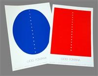 sans titre (set of 2) by lucio fontana