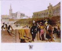 les banderilleros, pl.6 by leon jean-baptiste sabatier