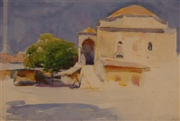 a domed building in the middle east (+ 4 others; 5 works) by henry simpson