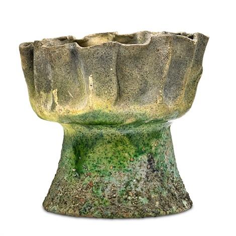 Burnt Baby Vase With Ruffled Rim By George Edgar Ohr On Artnet