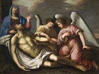 le christ mort pleuré par les anges by le nain brothers