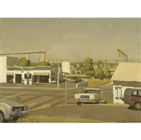 landscape with three cars by philip geiger