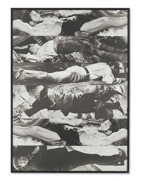 horizontal men (with one luxuriating) by john baldessari