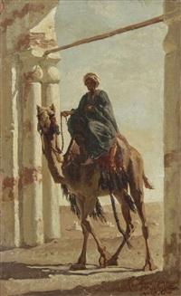 jeune oriental sur son chameau by cesare biseo