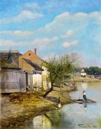 on the stream bank by arthur (artur) tölgyessy