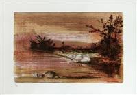 le stagioni del fiume (portfolio of 4) by giuseppe ajmone