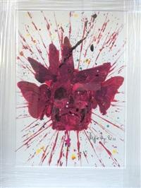 vanite et papillons rouges by philippe pasqua