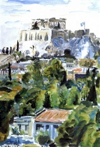 view of the acropolis from plaka by panos fidakis