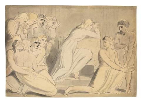 joseph ordering simeon to be bound by william blake