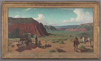 end of day, palo duro canyon (the wagon) by reveau mott bassett