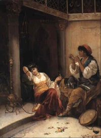 the harem beauties by carl libert august lentz