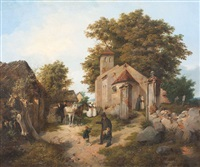 dorf in mecklenburg by august c. haun