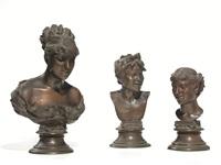 busto femminile; scugnizzo; testa femminile (3 opere) by vincenzo gemito