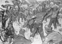 schneeballschlacht by heinrich emil adametz