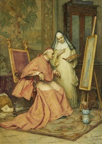 cardinal and nun by publio de tommasi