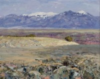 the snow-capped taos range by rod goebel