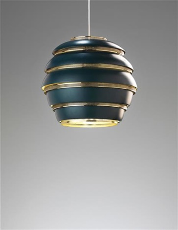 beehive ceiling light, model no. a 331 by alvar aalto