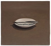 untitled (knife and dish) by vija celmins