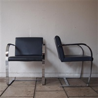suite de 4 fauteuils, modèle brno (set of 4) by ludwig mies van der rohe