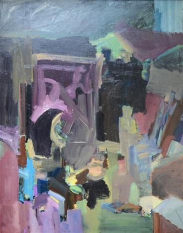 abstract landscape by sylvia plimack mangold