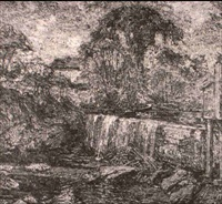 stroudwater mill dam by walter griffin