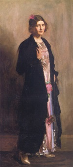 portrait of monica, daughter of w.madden, esq. by frank thomas copnall