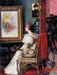 the lady painter's studio by erzsébet (elizabeth) angyalffy