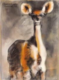 水鹿 (sambar deer) by liu chiwei