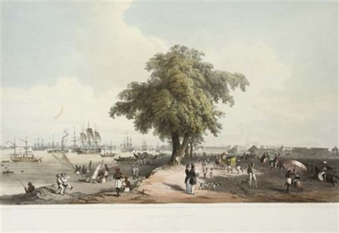 town and port of calcutta a view near the circular road 2 works by charles sir doyly