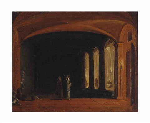 a church interior with the liberation of saint peter by hendrick van steenwyck the younger