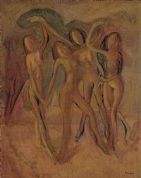 nude dancers by yun gee