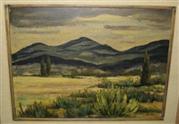 blue mountain, santa fe by howard bobbs