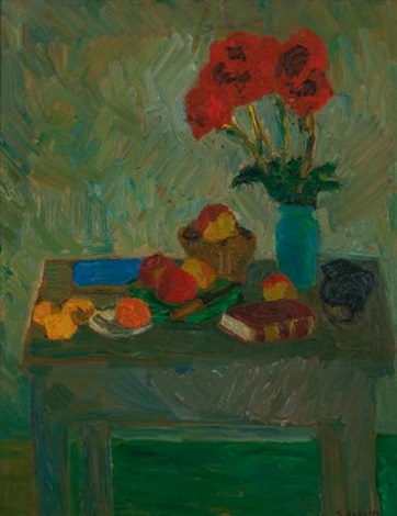nature morte au bouquet rouge by william goodridge roberts